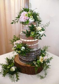 rustic greenery wedding cake manchester stockport cheshire