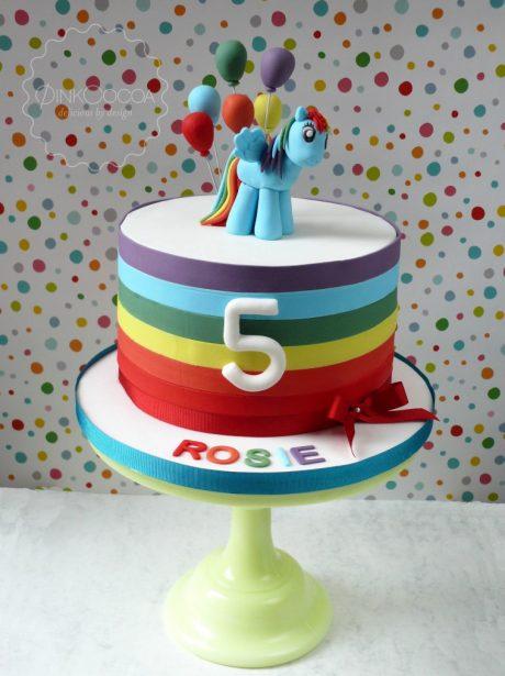 Rainbow Dash 5th Birthday Cake