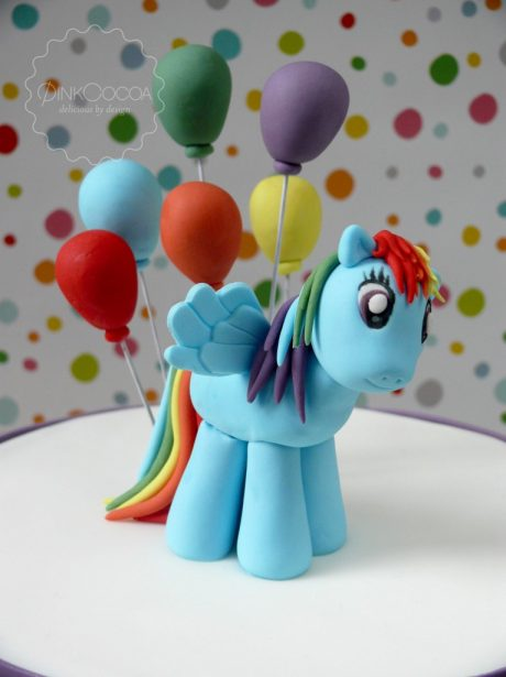 Rainbow dash 5th birthday cake