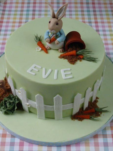 Evies Peter Rabbit Birthday Cake
