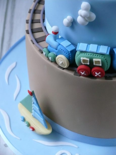 Harry's Train Christening Cake