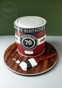 Paint Tin 70th birthday cake