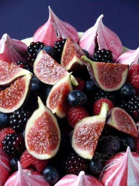 Figs, Berries & Meringues Birthday Cake