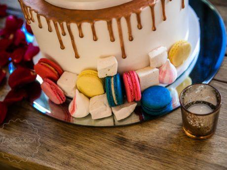 macaron marshmallow wedding cake