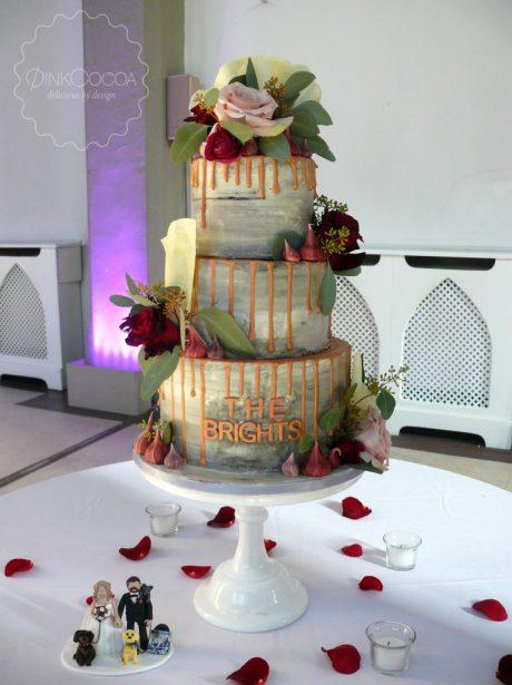 Drip wedding cake manchester cheshire
