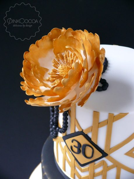 art deco birthday cake