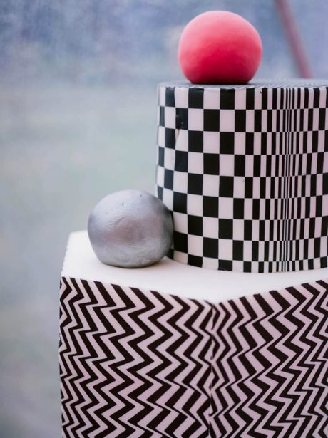 Op Art Wedding cake