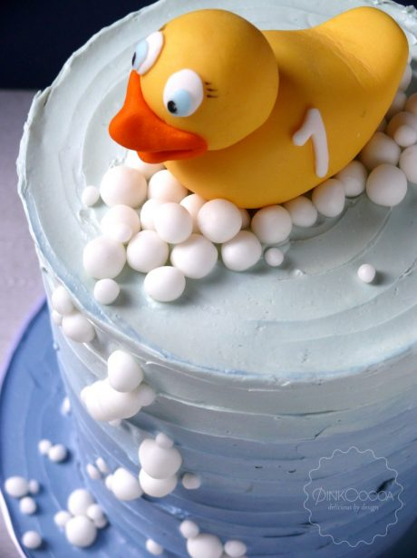 Rubber duck birthday cake