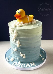 Rubber duck birthday cake