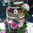 Naked wedding cake manchester