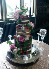 Naked wedding cake manchester