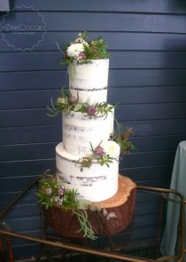 Semi naked wedding cake manchester