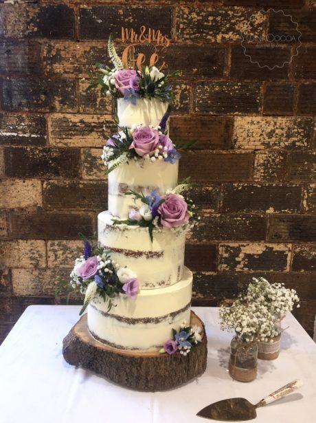 Semi naked Wedding Cake
