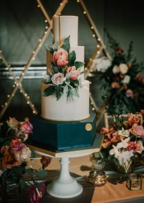 chic manchester wedding cake