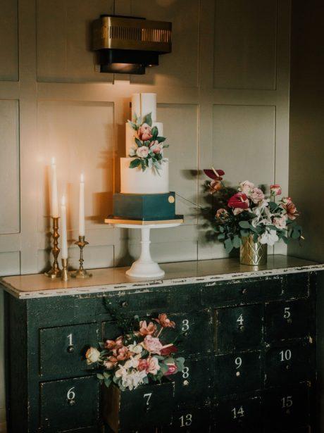 Chic manchester wedding cake