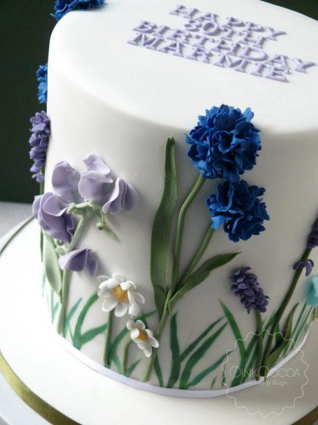 Wild flowers birthday cake manchester