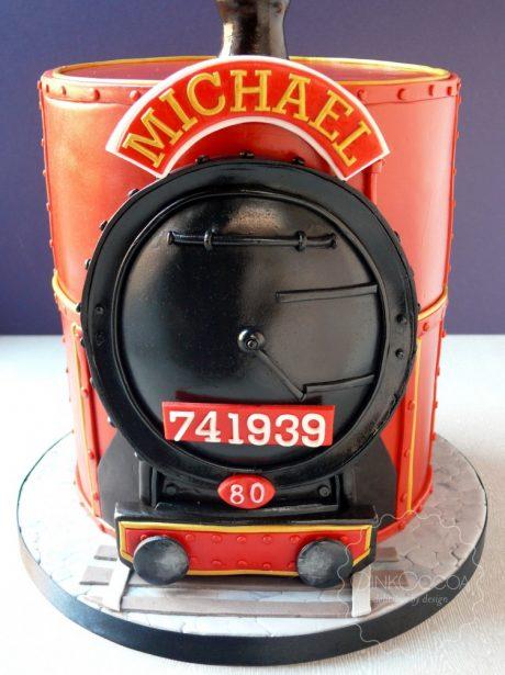 Train 80th Birthday cake Manchester